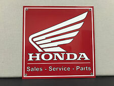 Honda Sales parts service vintage advertising sign motorcycle