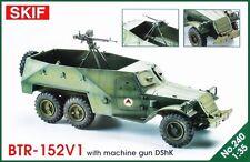 BTR 152 V1 con ametralladora DShK-Soviética APC (afgano MKGS) 1/35 SKIF Rara!
