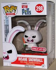 FUNKO POP MOVIES THE SECRET LIFE OF PETS INSANE SNOWBALL #298 TARGET In Stock
