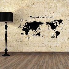 World Map Removable DIY PVC Vinyl Art Room Wall Sticker Decal Mural Home Decor
