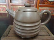 Chinese Vintage Yixing  Zisha Pottery  Signed Tea Pot (105)