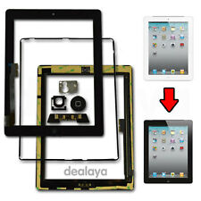BLACK REPLACEMENT TOUCH SCREEN DIGITIZER FOR IPAD3/4+MID FRAME BEZEL&HOME BUTTON