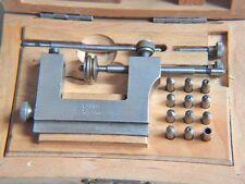 Alte  Uhrmacherwerkzeug Zapfenrollierstuhl FAVORITE SWISS