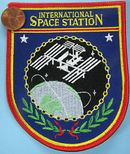 NASA PATCH vtg INTERNATIONAL SPACE STATION ISS Satellite Planet EARTH 3.75 x 4.5