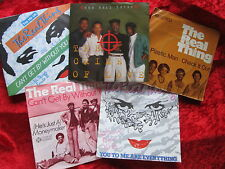 """The Real Thing - Plastic Man/Crime of Love/Can´t get x2 +1  GERMANY 5x 7"""" Set !!"""