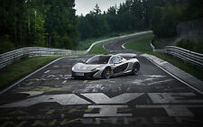 2015 Mclaren P1 Nurburgring Car Auto Collecting 24X32 inch Poster