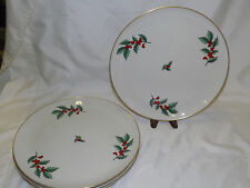 Pickard 4 Christmas Holly & Berry Chargers Platters  11 3/4""