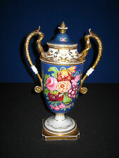 Magnificent Hand Painted and Gilded 19th Century French Porcelain Vase