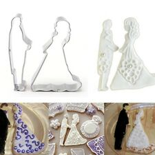 Wedding Bride Groom Cookie Cutter Biscuit Pastry Cake Baking Mold Decorating