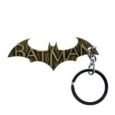 Batman Logo Bronze Metal Alloy Jewelry Keychain DC Comic Superhero Keyrings