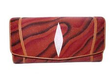NEUF Portefeuille femme en galuchat véritable cuir de raie.