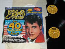 ELVIS PRESLEY Le Roi du Rock 'N Roll - 40 Plus Grands Succes 2-LP SET K-Tel Rare