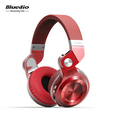 Bluedio T2 Plus Bluetooth Wireless Stereo Headphones Earphone,FM&Card Slot*Red
