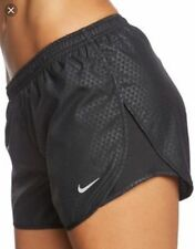 NEW Nike Modern Tempo Embossed Lined Women's Running Shorts - Black Medium