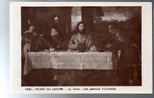CPA 75 PARIS musée du louvre le titien  pélerins d'emmaus