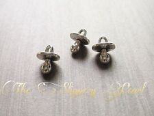 BULK Charms Pacifier Charms Antiqued Silver 50 pieces Wholesale Charms Baby