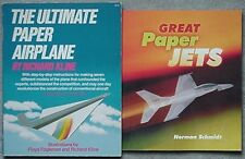 2 PAPER AIRPLANES BOOKS, 1985, 1999 (INSTRUCTIONS, ILLUSTRATIONS +