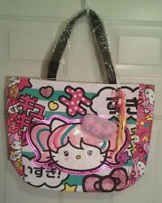 New Sanrio by Loungefly Hello Kitty Large Glitzy Colorful Tote Travel Bag Purse