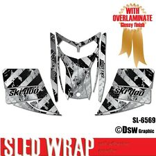 SLED WRAP DECAL STICKER GRAPHICS KIT FOR SKI-DOO REV MXZ SNOWMOBILE 03-07 SL6569