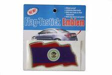 BELIZE  COUNTRY  FLAG BUMPER STICKER FLAG-TASTICK EMBLEM..SIZE: 3.5 X 2 INCH