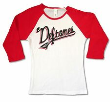 """DEFTONES """"WORLDWIDE"""" WHITE BABYDOLL SHIRT NEW OFFICIAL BAND MUSIC JRS SMALL"""