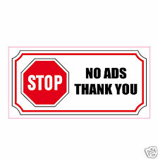 Sticker STOP NO ADS THANK YOU STOP ADS