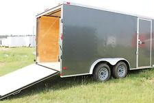 New 8.5x16 Enclosed Trailer Cargo V Nose Utility Motorcycle Landscape 18 Hauler