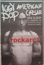 IGGY POP American Caeser 1993 UK Press ADVERT 11x7""