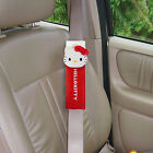New Hello Kitty Leather Car Seat Belt Shoulder Pads 2pcs Car Accessories