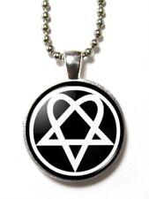 Magneclix magnetic pendant-Heartagram/Pentagram -Goth/Emo
