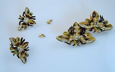 Vintage Coro Duette Queen Bees and matching earrings