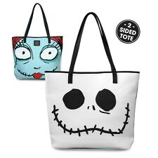 Loungefly Nightmare Before Christmas Jack Sally Big Face 2 Sided Tote Bag