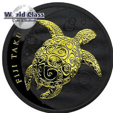 2011 1oz Fiji Taku - Black Ruthenium and 24kt Gilded Coin  mintage of only 200!