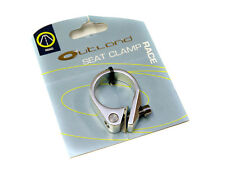 Outland - Race Road Bike Seatpost Clamp - Bolt - 31.8mm - Silver