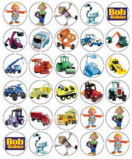 30 x Bob The Builder Edible Cupcake Toppers Wafer Paper Fairy Cake Topper