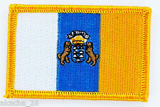 PATCH ECUSSON BRODE DRAPEAU ÎLES CANARIES ESPAGNE INSIGNE THERMOCOLLANT FLAG