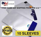 10 PACK HIGH LEVEL RFID Blocking Credit Card Sleeve Protector Shield WaterProof