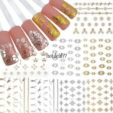 12 Sheet 3D Flower Nail Stickers Manicure Decals Hot Stamping Nail Art DIY 8HOT