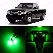 7 x Ultra Green LED Interior Light Package For 1998 - 2011 Ford Ranger