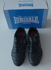 Lonsdale Camden Trainers Mens Black/White Leather Sneakers Shoes Footwear