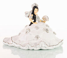 THE ENGLISH LADIES CO GYPSY FAN-TASY WHITE DRESS BRUNETTE DOLL FIGURE NEW BOX