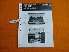 SERVICE MANUAL Kenwood KD 66F english Service Anleitung