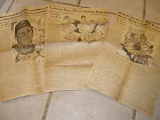 Lot of 7 Original Vintage Boston Red Sox News Clippings- Goodman Vollmer O'Neill