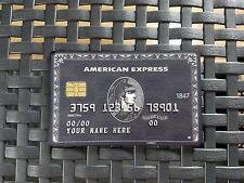 American Black Card. Customizable Centurion Amex Express