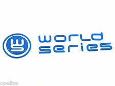 Genuine New RENAULT WORLD SERIES REAR BADGE Blue Emblem Megane & Clio III Mk3