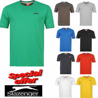 NEW MENS BOYS SLAZENGER SHORT SLEEVE ROUND NECK SHIRT CASUAL T SHIRT PLAIN TOP
