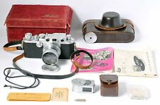 Leica IIIf Ernst Leitz Wetzlar Camera with Collapsible Summitar f/2 50mm Lens