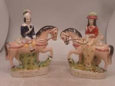 Staffordshire Pottery Pair of Figures - Prince & Princess of Wales on Horseback