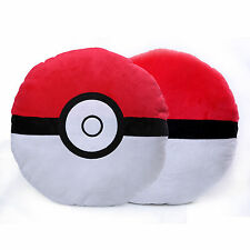 "2x 13"" Large Pokemon Pokeball Throw Pillow Cushion Soft Plush Stuffed Doll Toy"