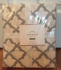 NEW Pottery Barn Marlo QUEEN Sheet Set GRAY